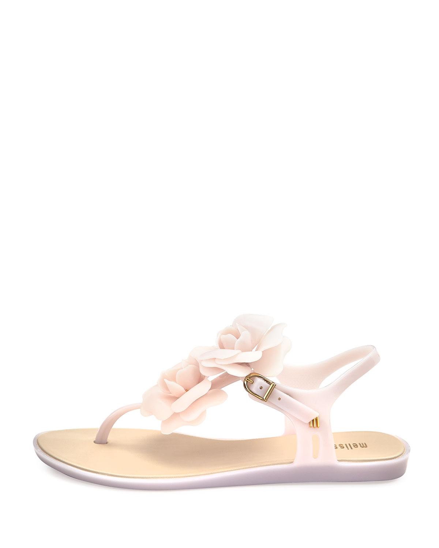38d75aba373 Lyst - Melissa Solar Garden Thong Sandal in Pink
