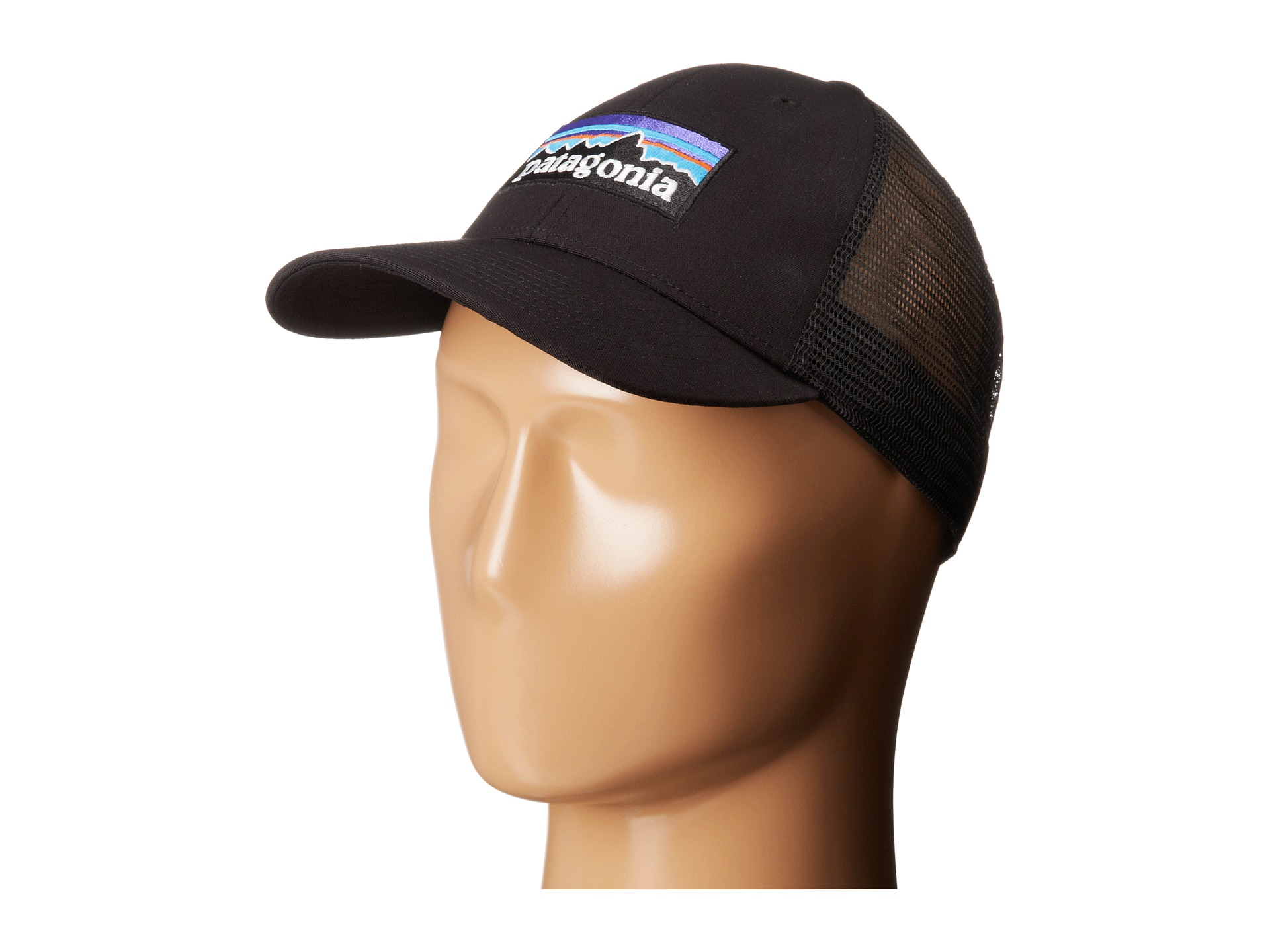 Lyst - Patagonia P6 Lopro Trucker Hat in Black eb190a9270b