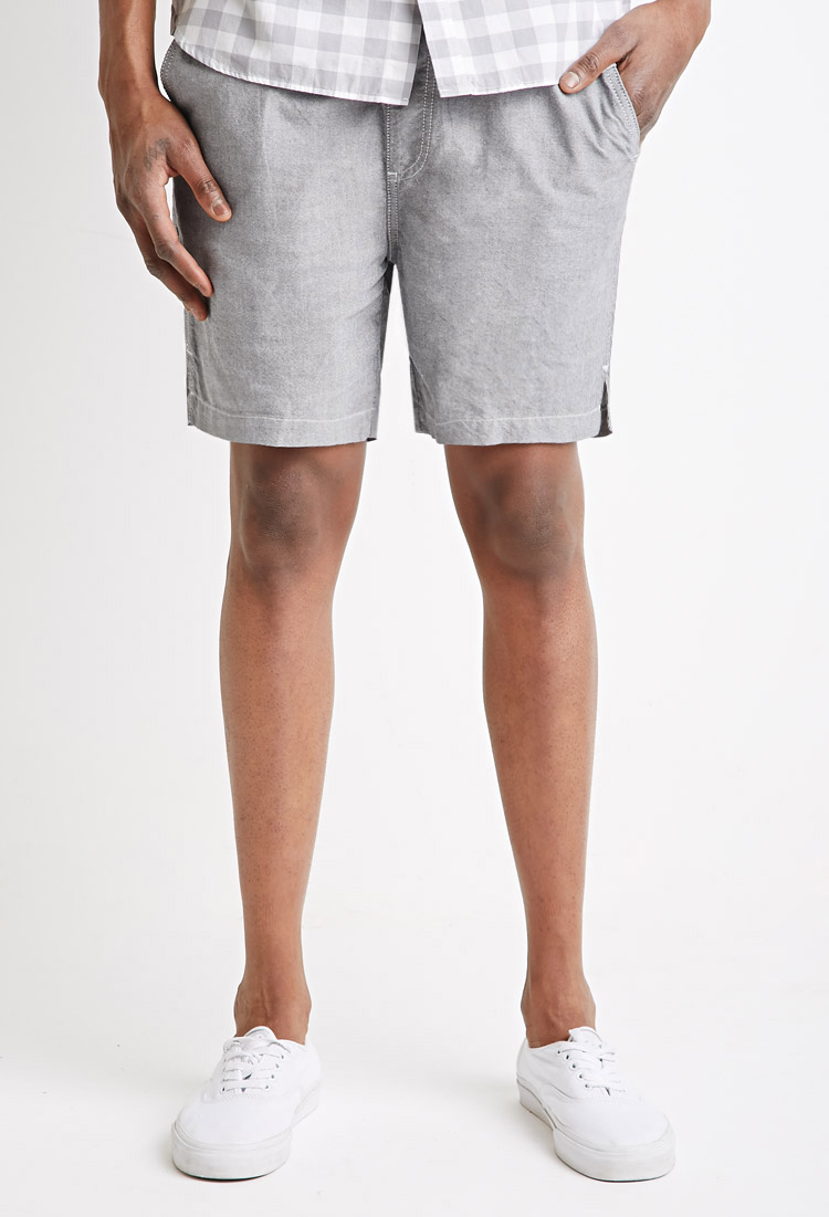 Forever 21 Cotton Drawstring Shorts in Gray for Men | Lyst