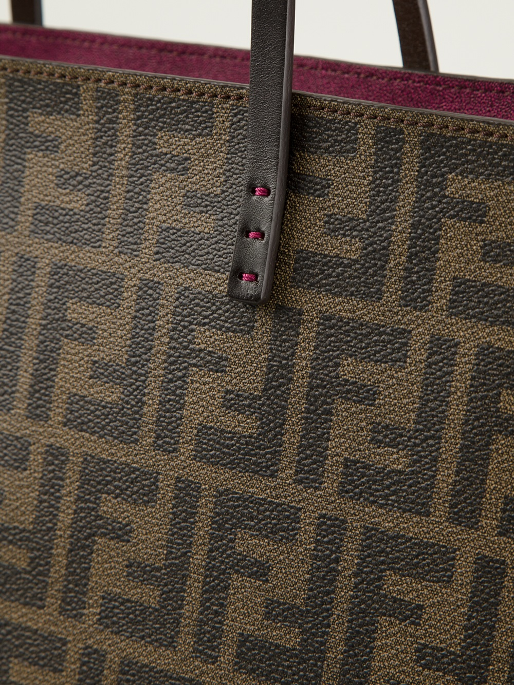 6aae62a452 ... discount code for lyst fendi shopping roll bag in brown 9d6d3 2f517
