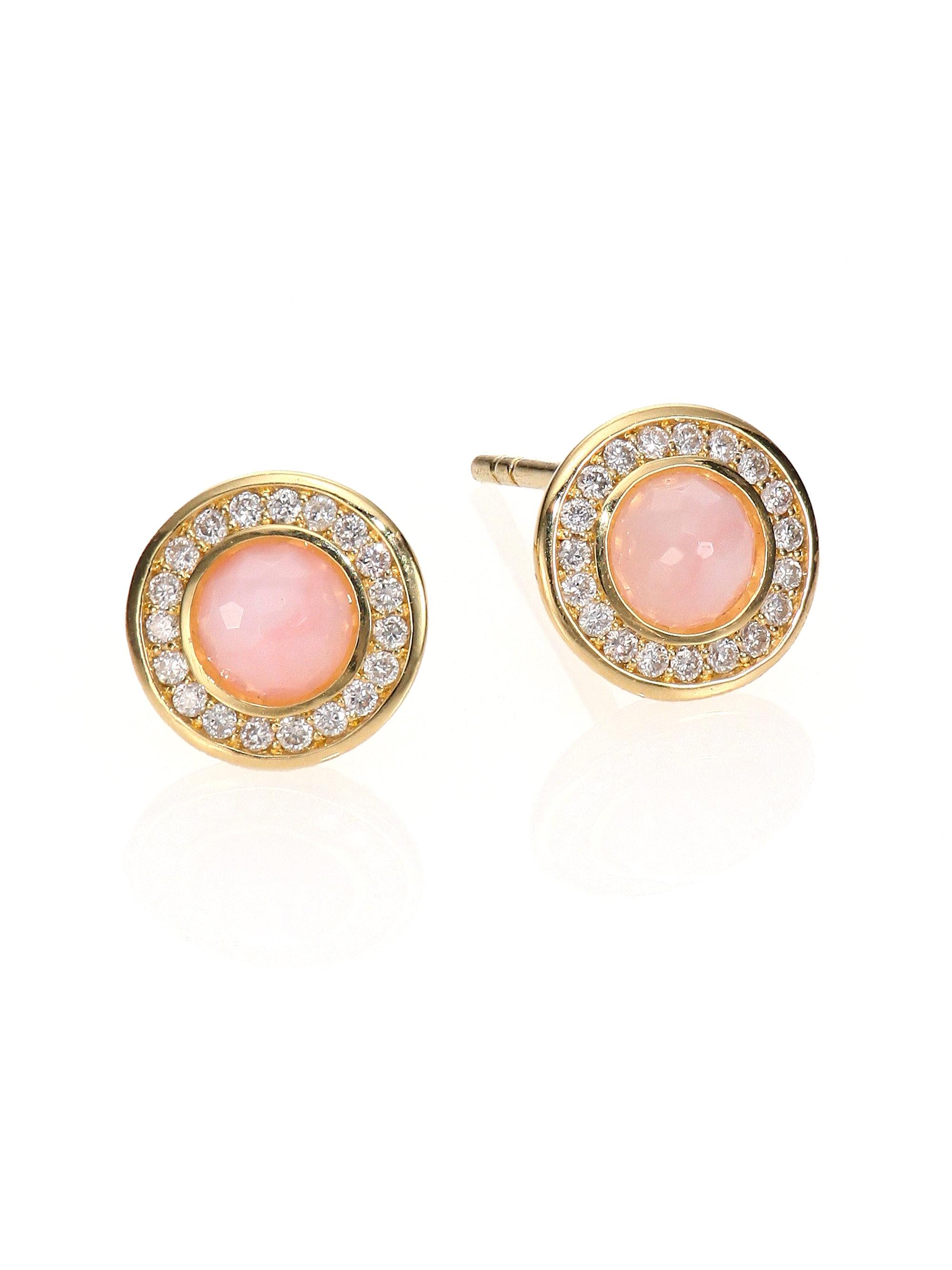 Fresh Lyst - Ippolita Lollipop Pink Opal, Diamond & 18k Yellow Gold Mini  EQ78