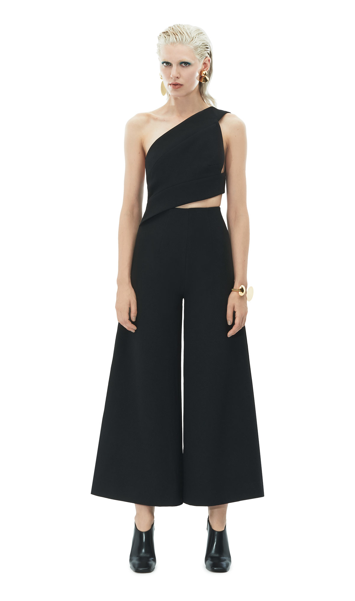 72aef209acd Solace London Addison Jumpsuit Black in Black - Lyst
