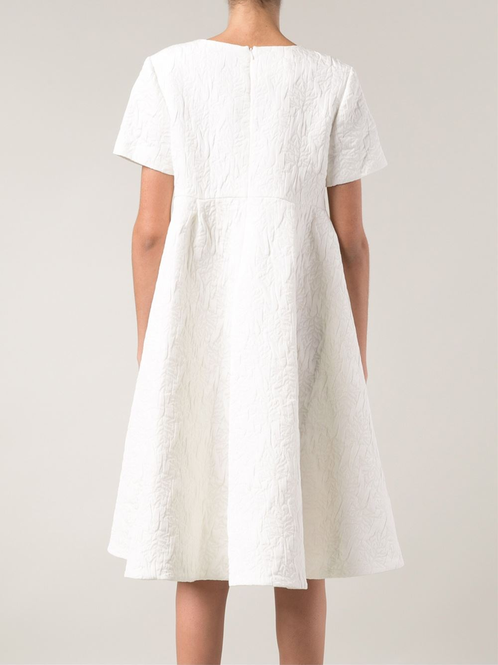 Co leaf embroidered oversize dress in white lyst