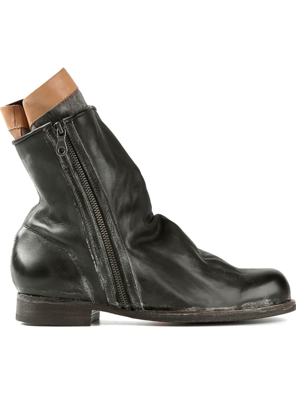 miharayasuhiro distressed boots in black for lyst