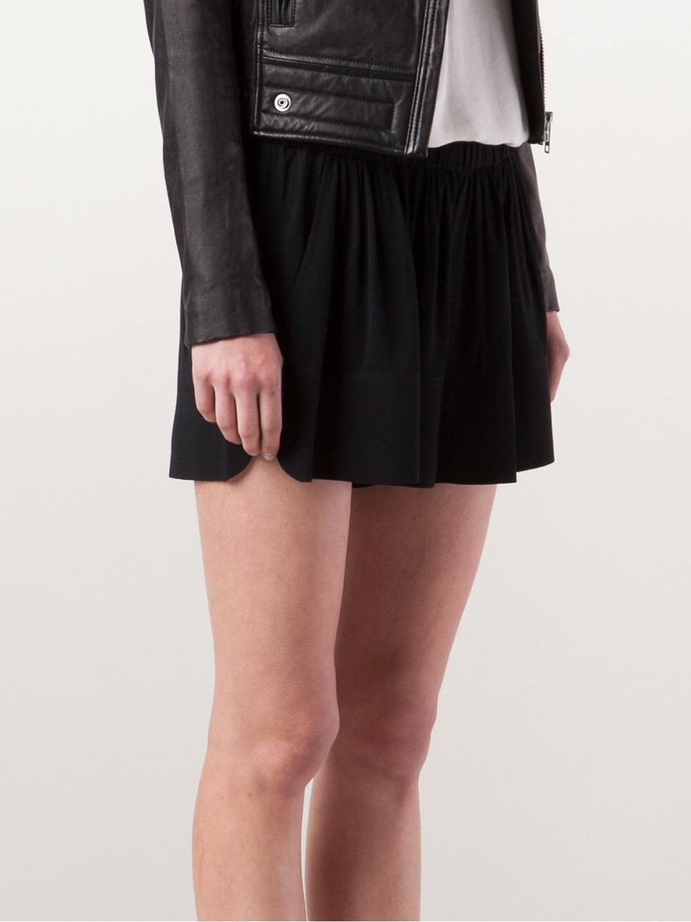 Lyst Iro Flowy Shorts In Black