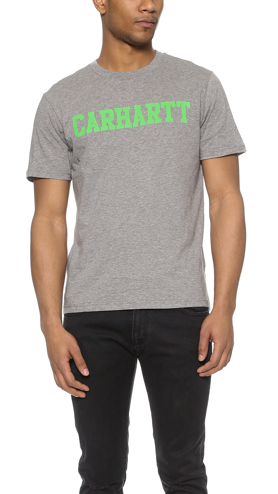 Lyst carhartt wip college t shirt in gray for men for T shirts for college guys