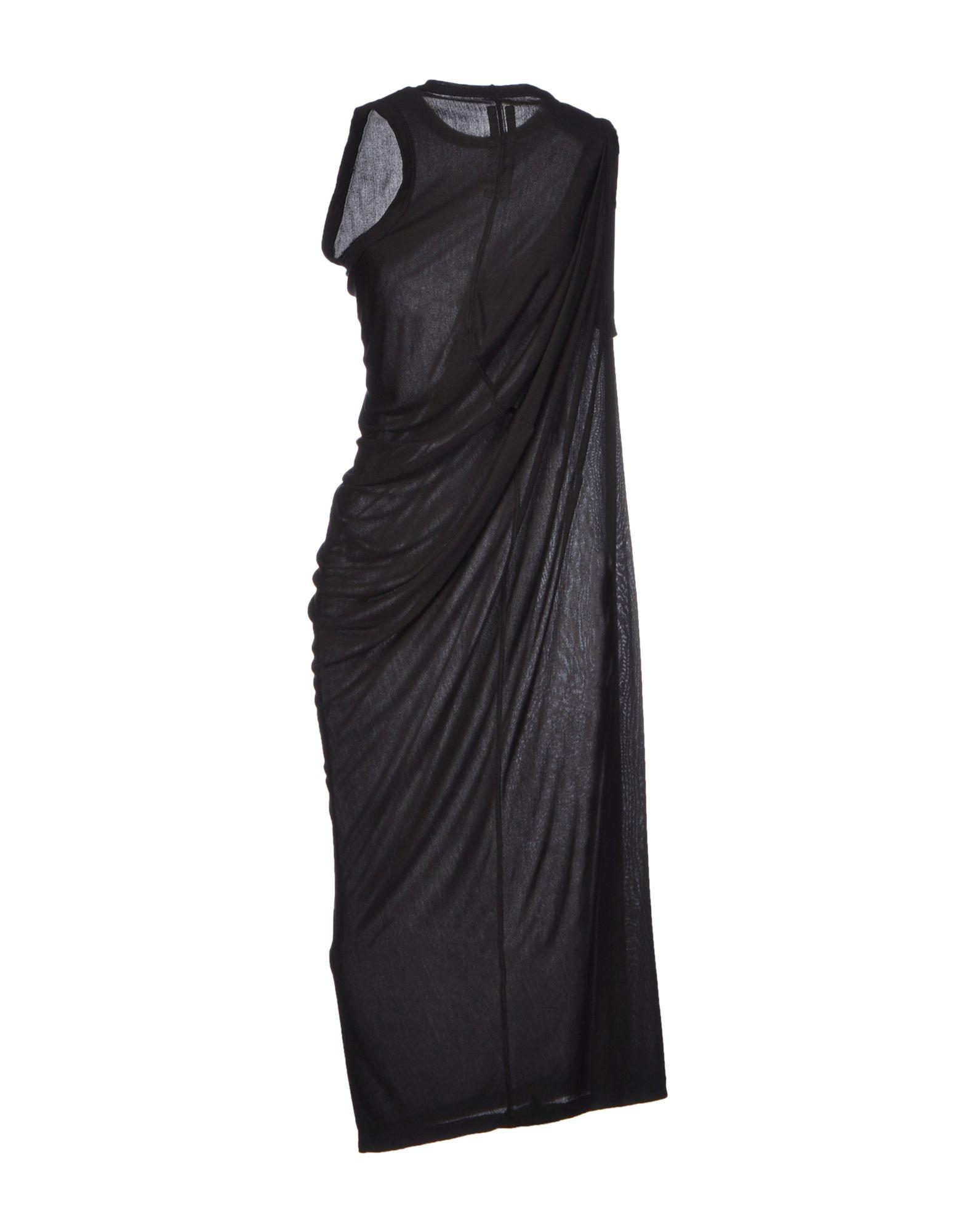 Rick Owens 3 4 Length Dress In Black Lyst