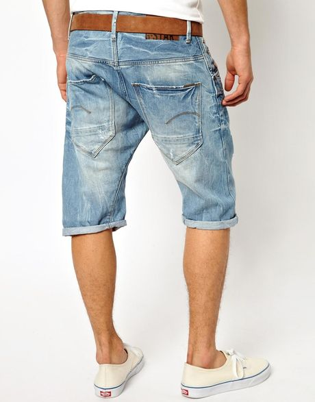 star raw g star denim shorts arc 3d loose tapered light aged in blue. Black Bedroom Furniture Sets. Home Design Ideas
