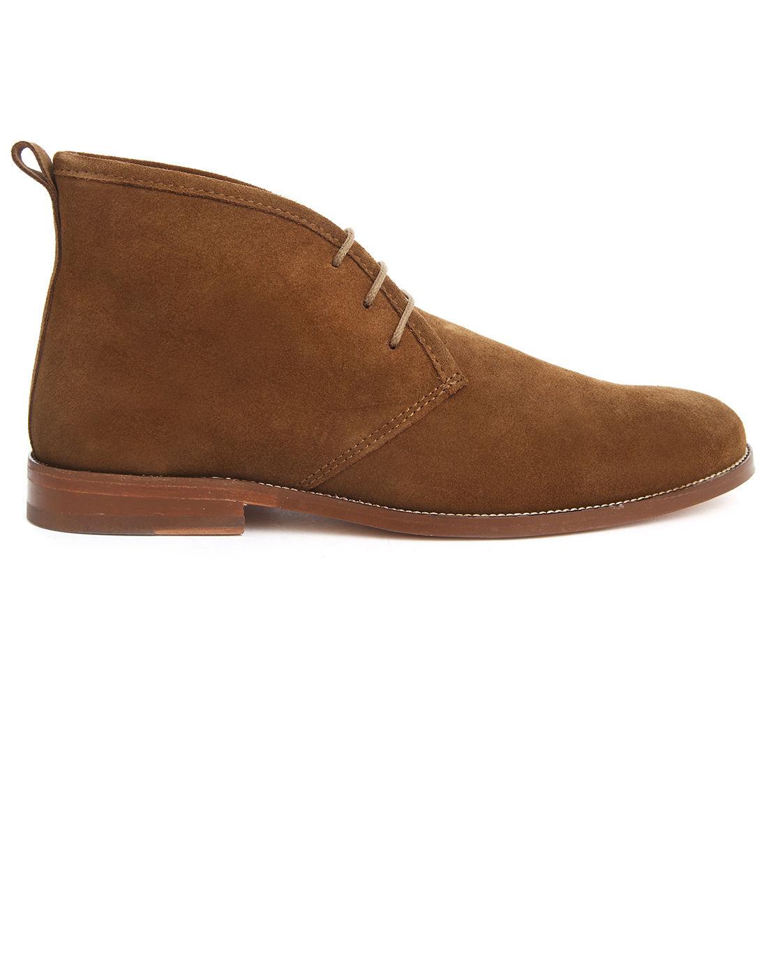 bobbies le monsieur camel suede desert boots in brown for. Black Bedroom Furniture Sets. Home Design Ideas