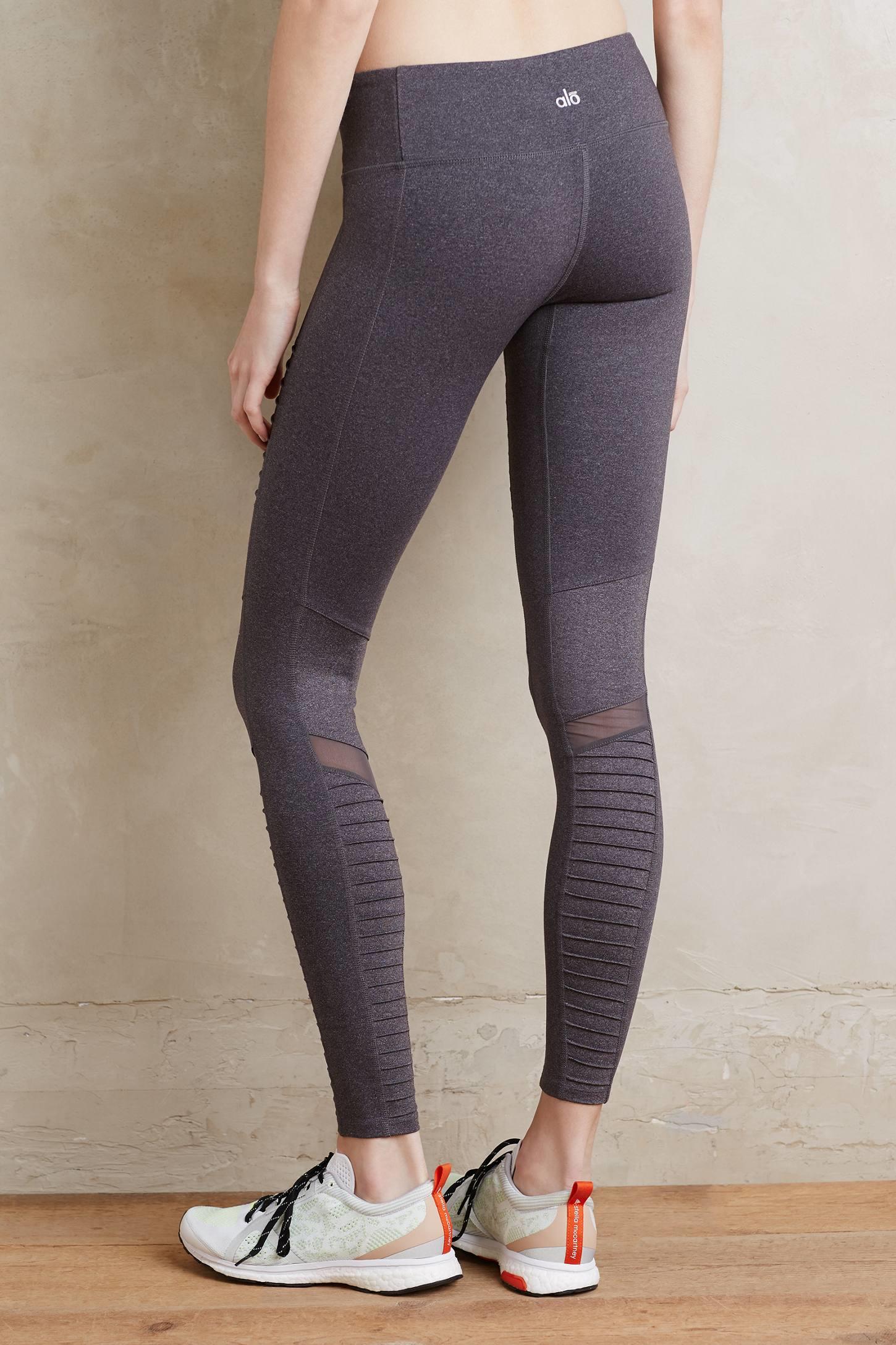 Dark grey yoga leggings-3988