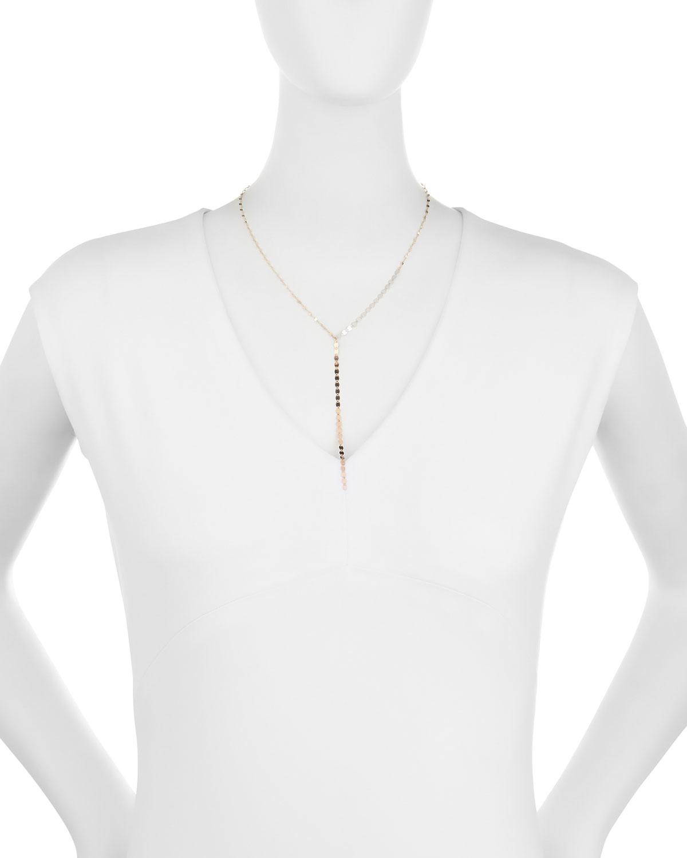 Lana Jewelry Nude Lariat Disc Necklace JRdKM8h