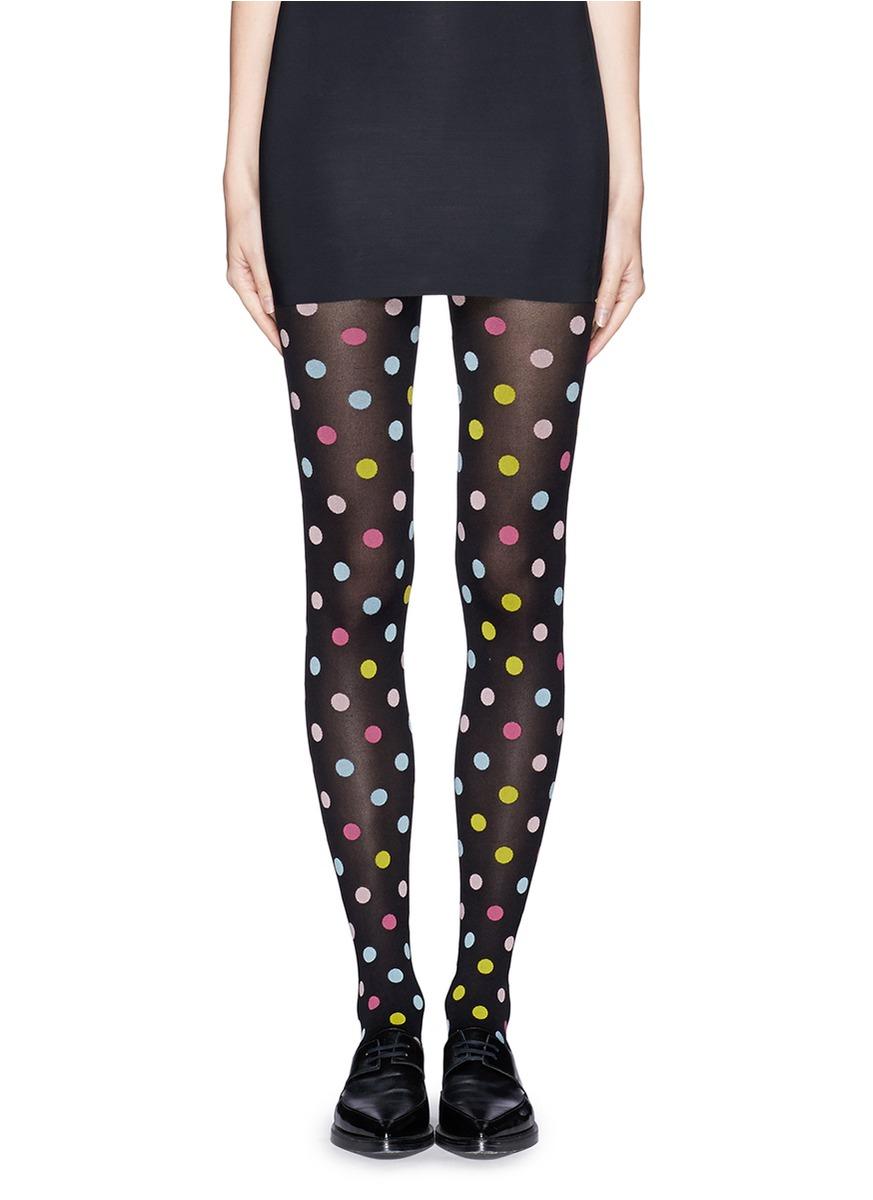 94b4967fe4d Happy Socks Small Polka Dot Tights - Lyst