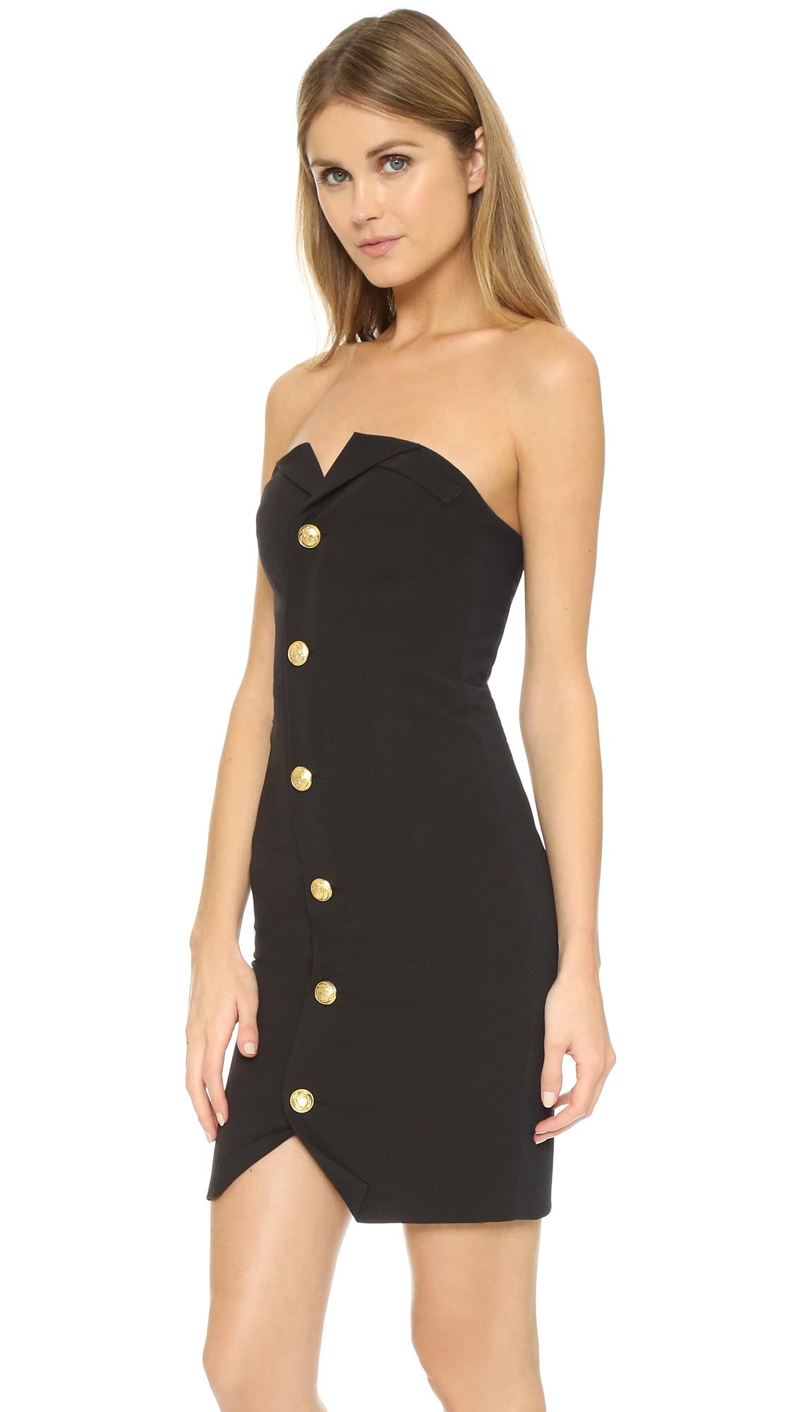 Laveer Bustier Dress In Black Lyst