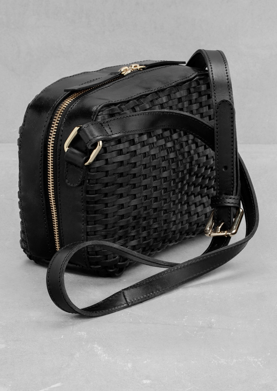 Other Stories Braided Shoulder Bag in Black - Lyst 16aafb7a7c1ef