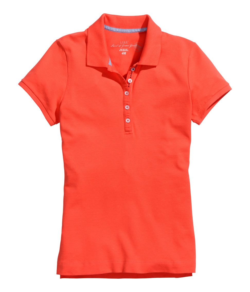 h m polo shirt in red lyst