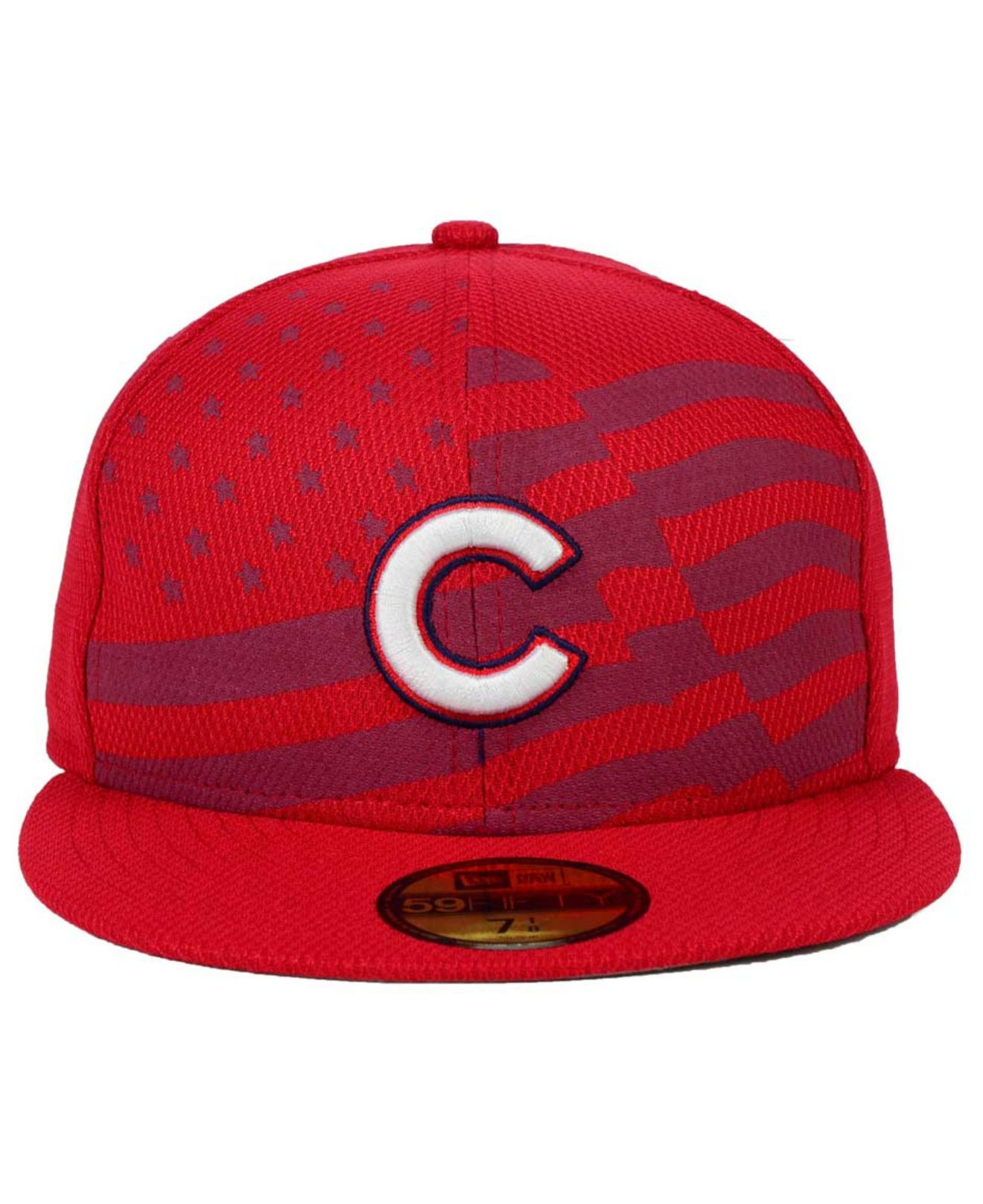 d7a6f8dfa96 Lyst - KTZ Chicago Cubs July 4th Stars   Stripes 59fifty Cap in Red ...