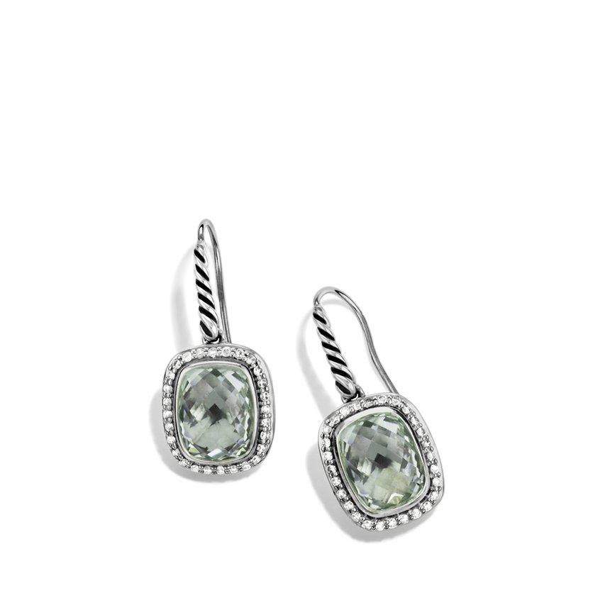 Lyst David Yurman Noblesse Drop Earrings With Prasiolite
