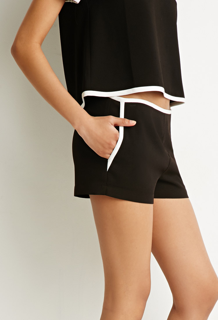 compare and contrast forever 21 and The forever 21 peach contrast-trim dolphin shorts are stylish browse the latest forever 21 clothing and shop online.