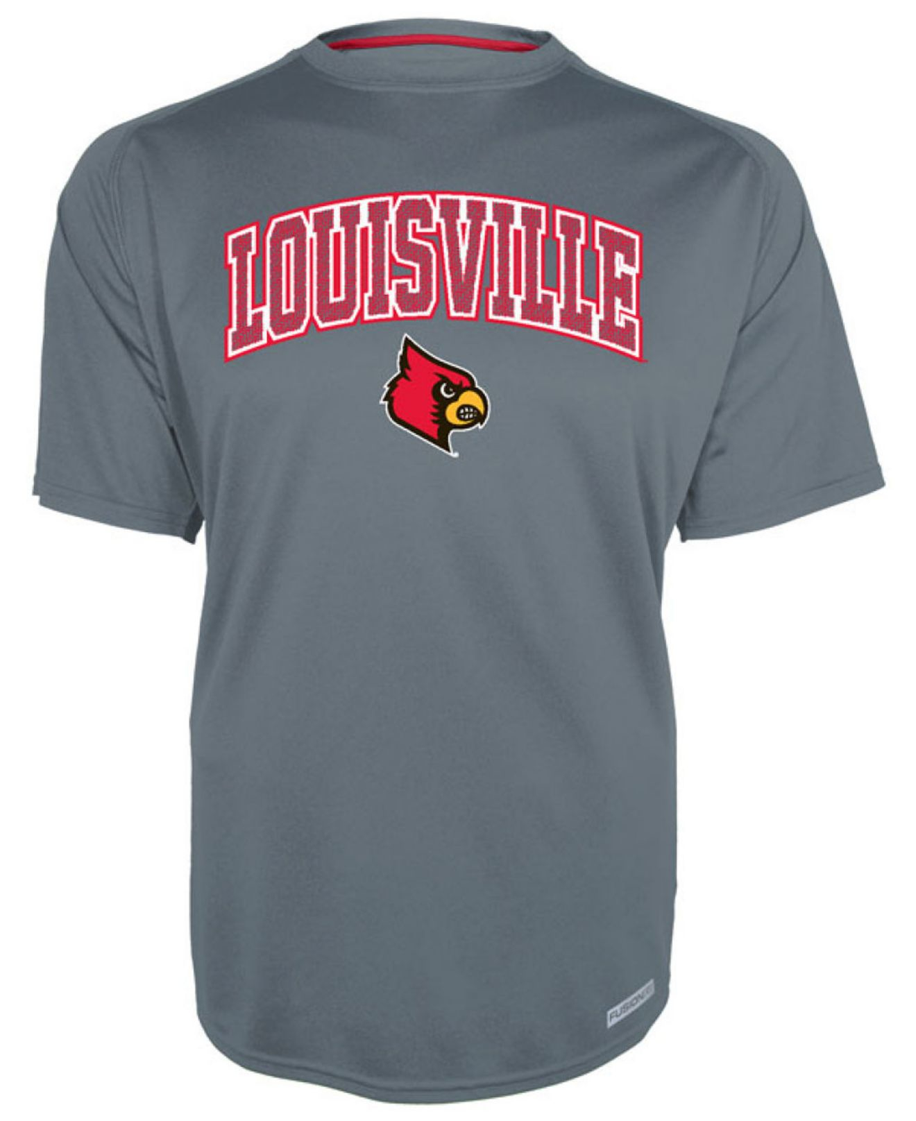 Knights apparel men 39 s louisville cardinals training t for Louisville t shirt printing
