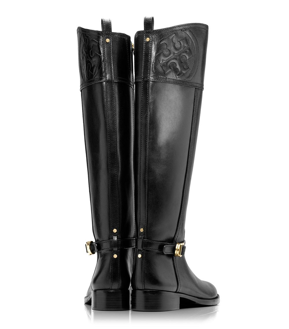dc7cf741bb55 Lyst - Tory Burch Marlene Riding Boot in Black
