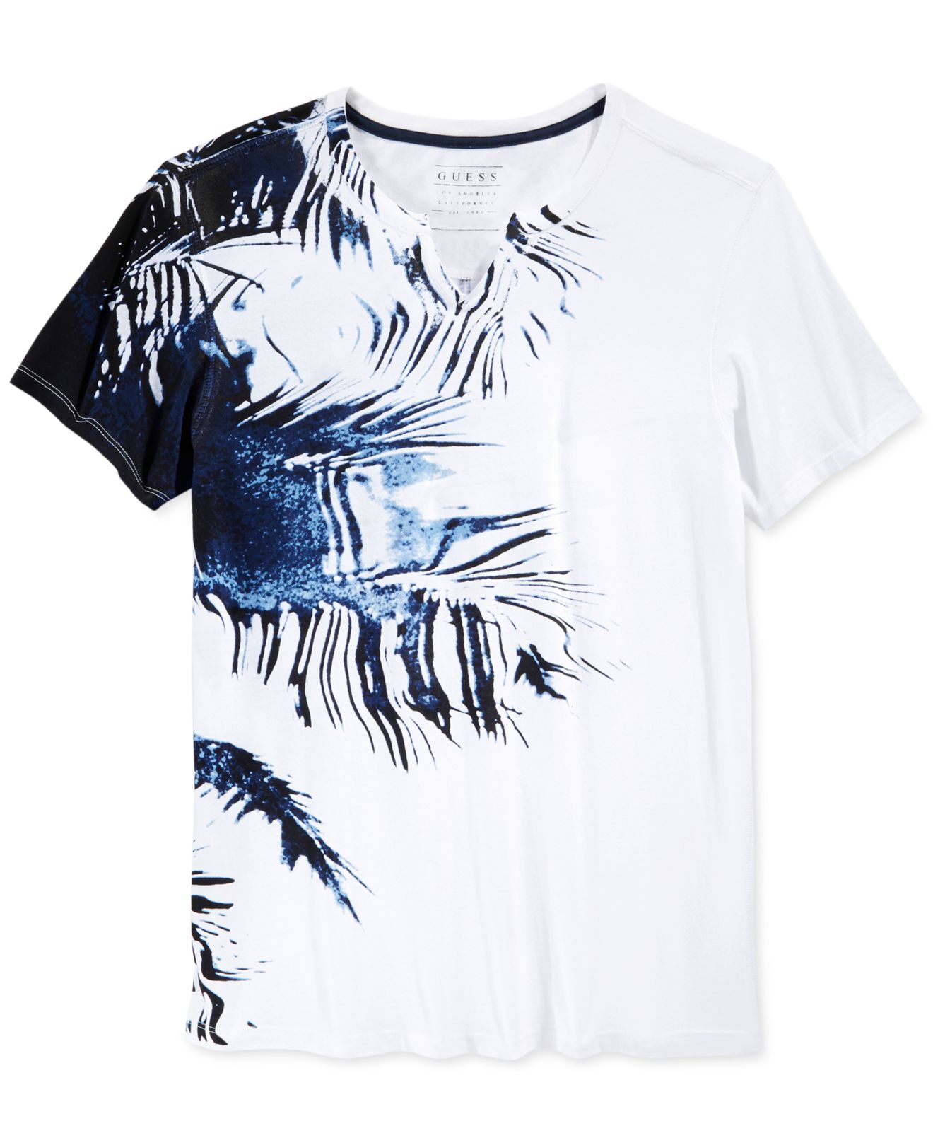 4b3bd7e22cfa Guess Stream Palm T-shirt in White for Men - Lyst