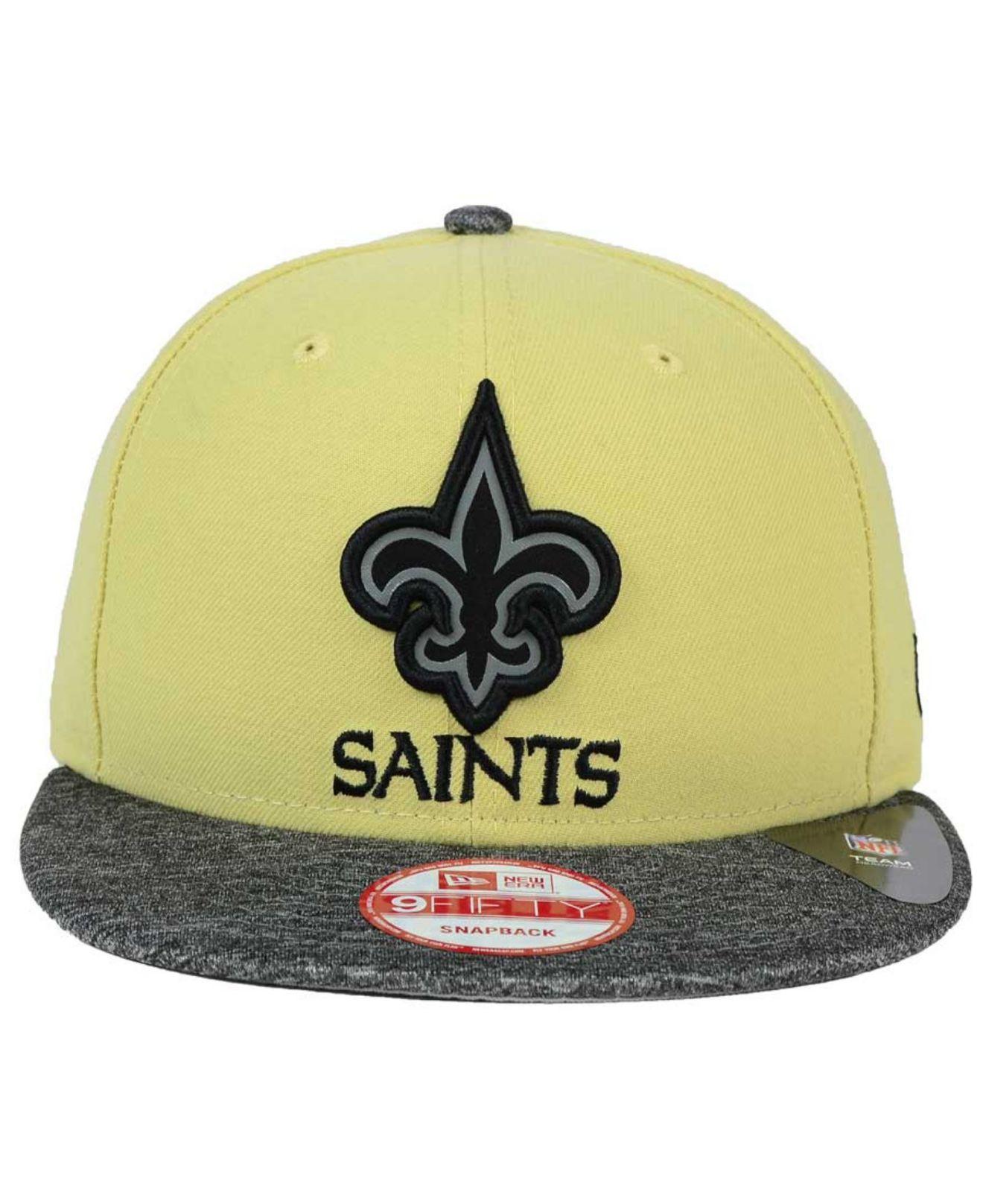f5aa84bfab9 Lyst - Ktz New Orleans Saints Gridiron Hook 9fifty Snapback Cap in ...