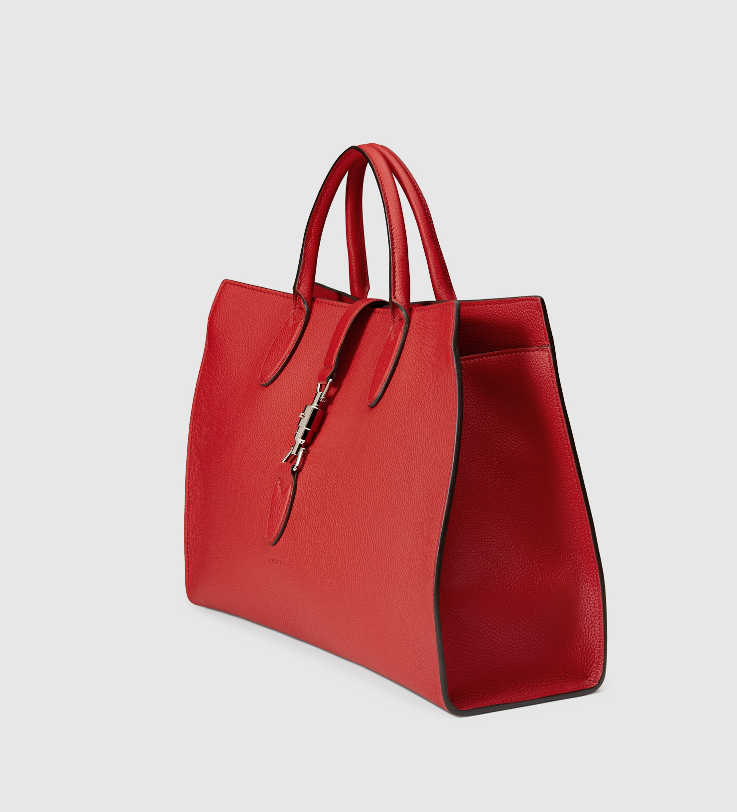 be7ce83d319d Gucci Jackie Soft Leather Top Handle Bag in Red - Lyst