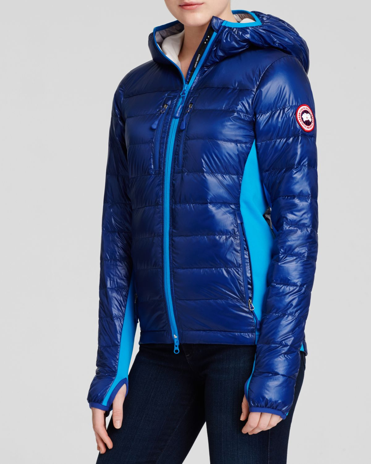 Canada Goose Hybridge Light Hooded Jacket In Blue Pacific