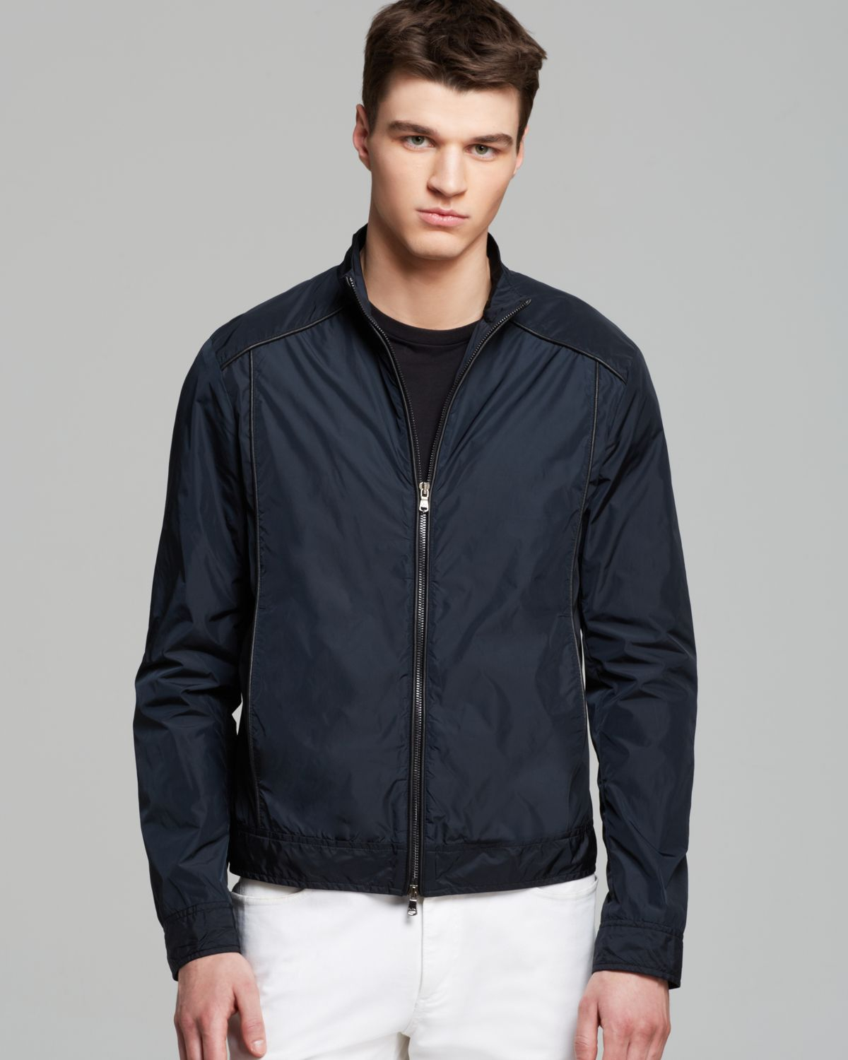 Michael kors Lightweight Jacket in Black for Men | Lyst