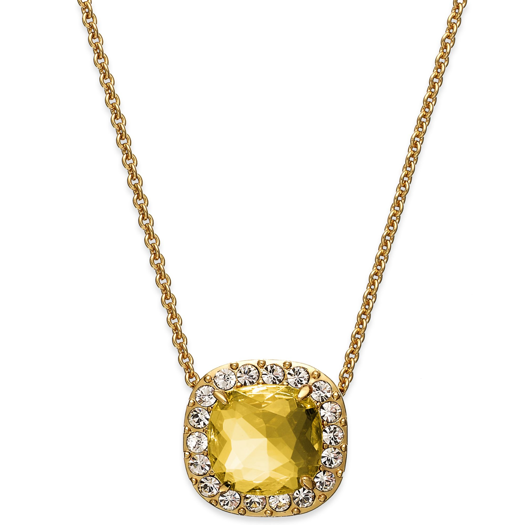 kate spade new york goldtone yellow and pave