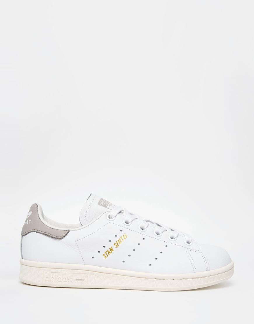 c69a7426b105 Lyst - adidas Originals Originals White Stan Smith Trainers in White
