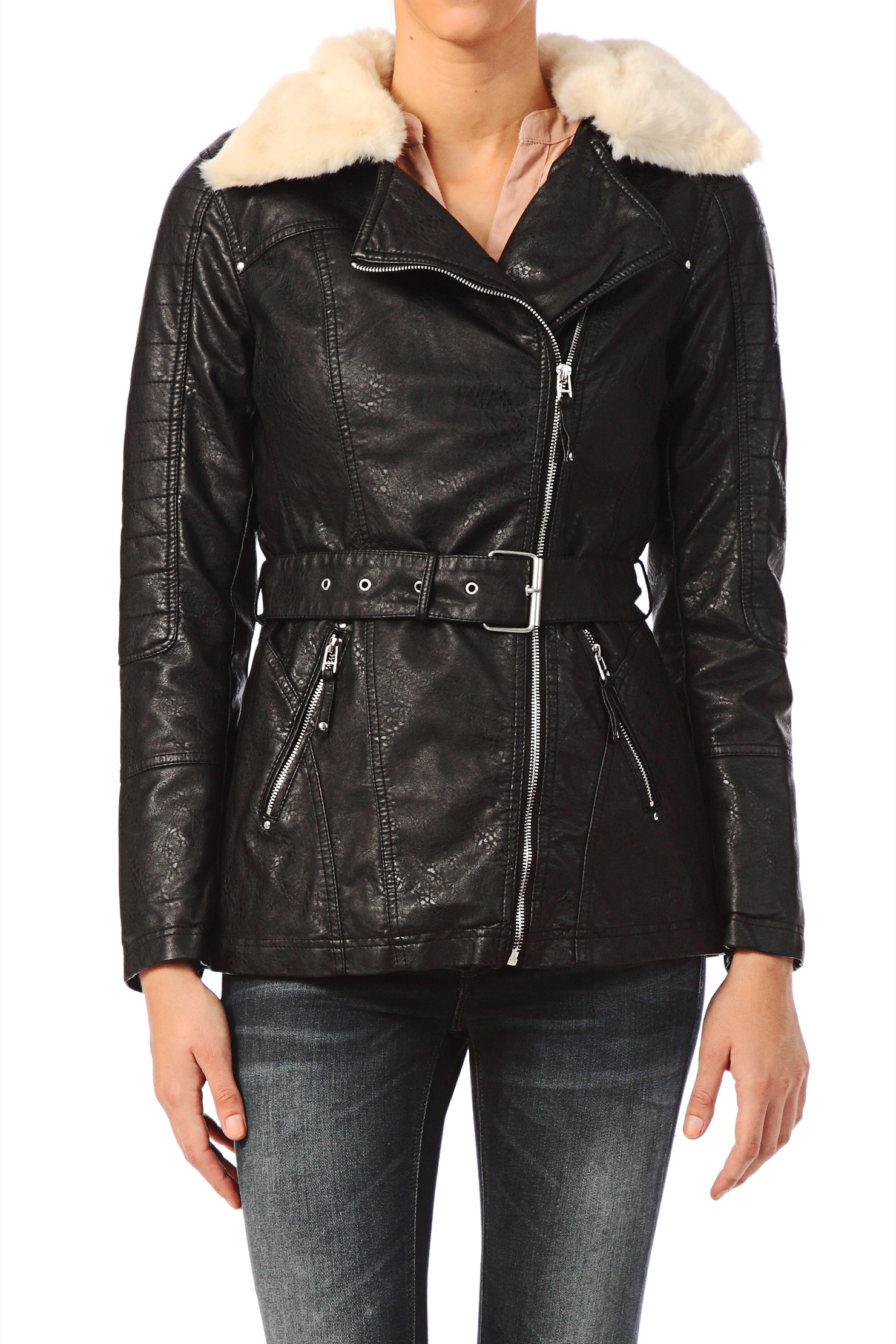 vero moda jacket in black lyst. Black Bedroom Furniture Sets. Home Design Ideas