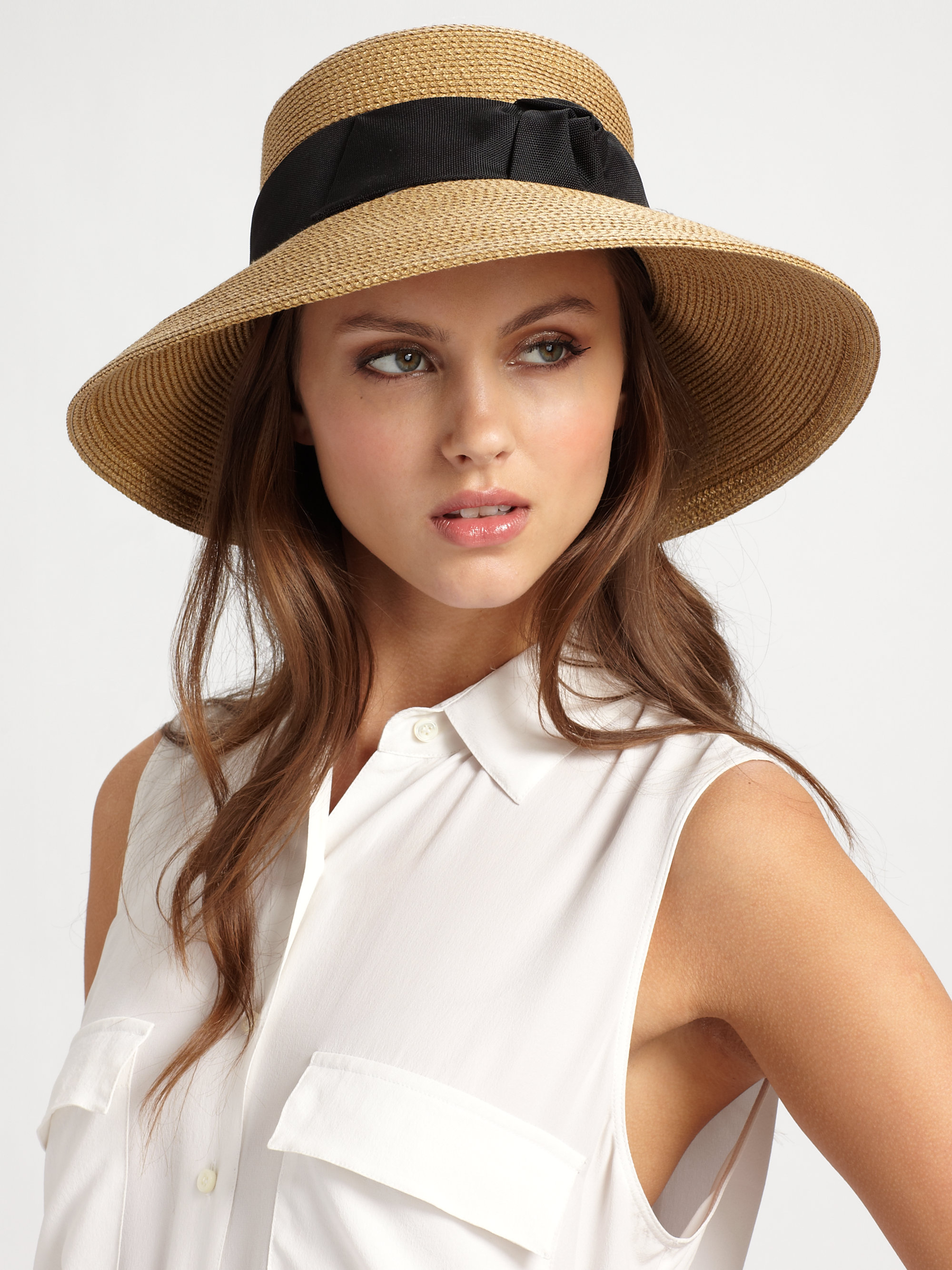 Lyst - Eric Javits Lantern Sun Hat in Natural 84348210d75