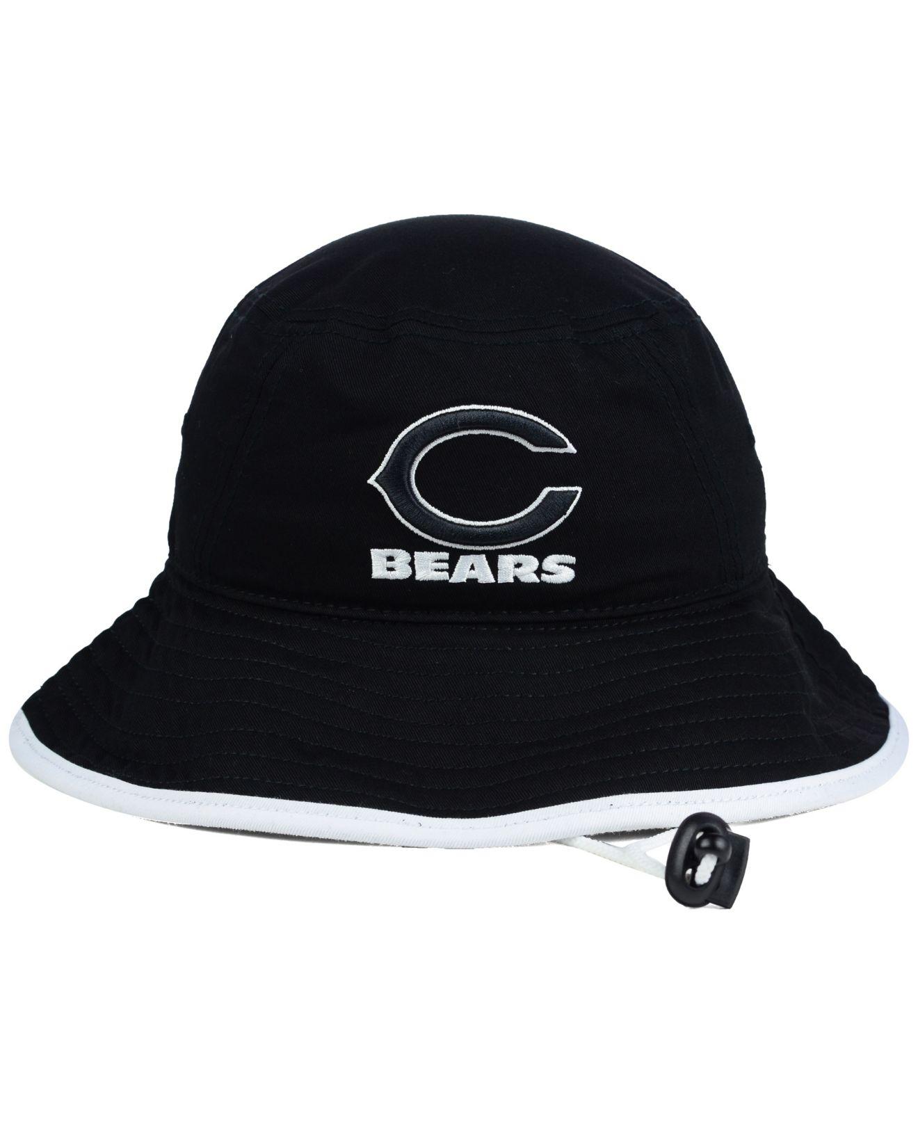1f0cdf29410 Lyst - KTZ Chicago Bears Nfl Black White Bucket Hat in Black