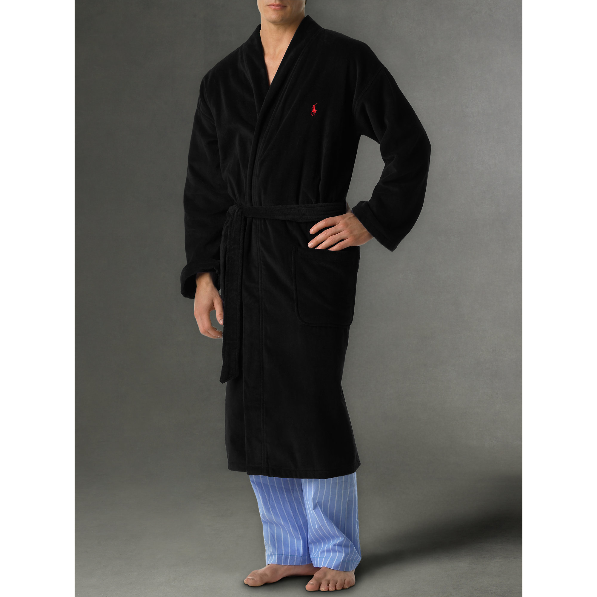 Polo ralph lauren Terry Kimono Robe in Blue for Men | Lyst
