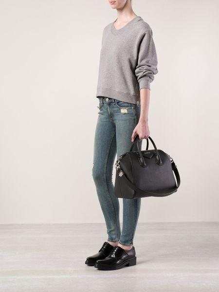 givenchy antigona medium bag in black lyst. Black Bedroom Furniture Sets. Home Design Ideas