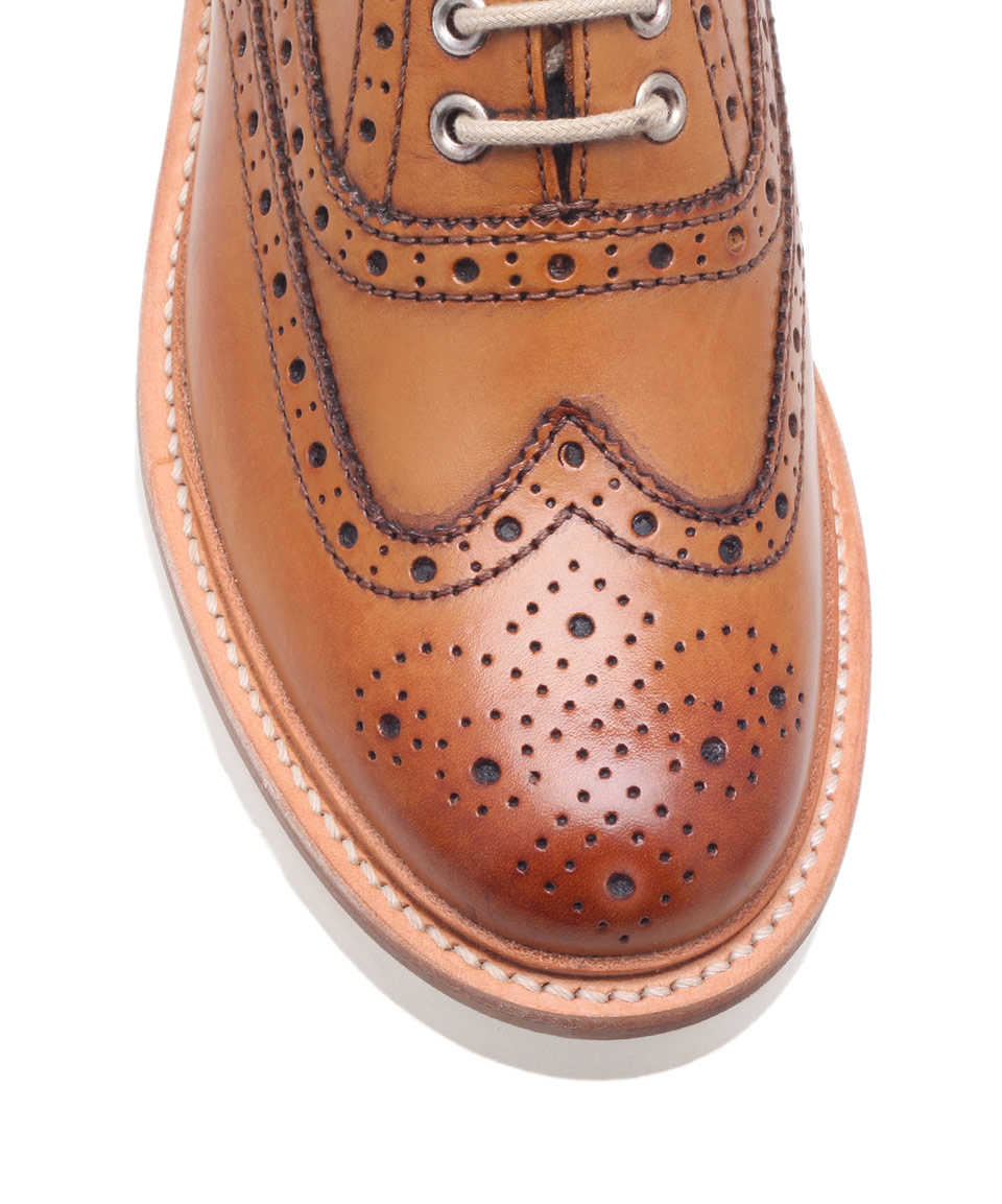 Lyst Foot The Coacher Tan Leather Emily Wedge Wingtip