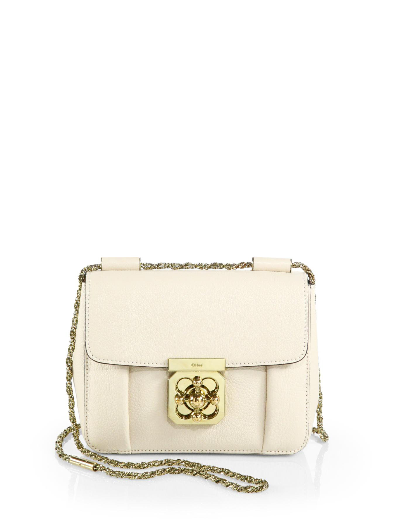 bacb7f6929ce Lyst - Chloé Elsie Small Chain Shoulder Bag in White