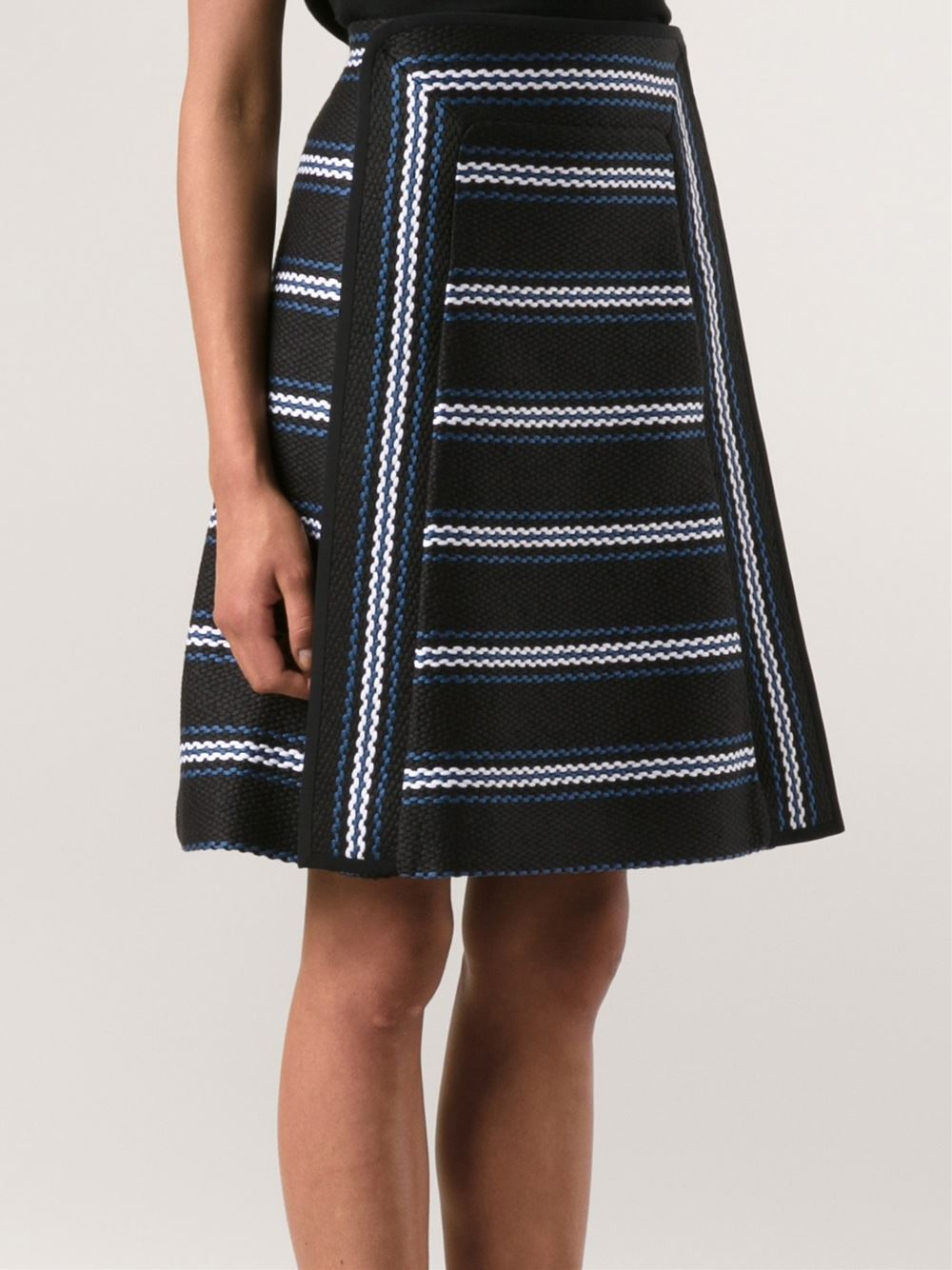 chlo 233 striped knit skirt in blue lyst