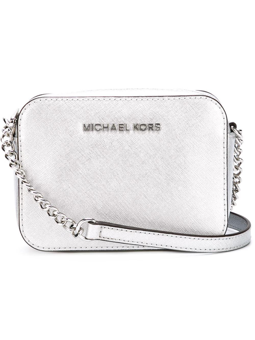 441855fd2418 MICHAEL Michael Kors Jet Set Travel Mini Cross-Body Bag in Metallic ...