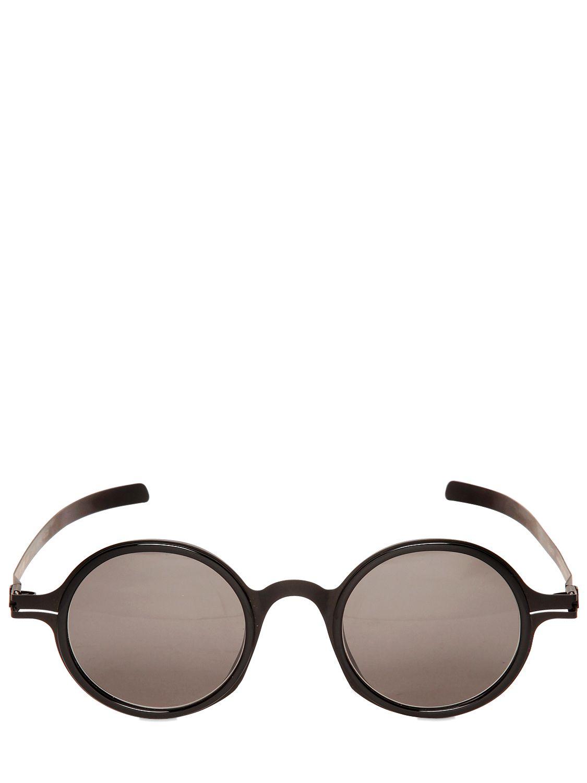 Mykita Round Sunglasses  mykita damir doma two tone round sunglasses in black for men lyst