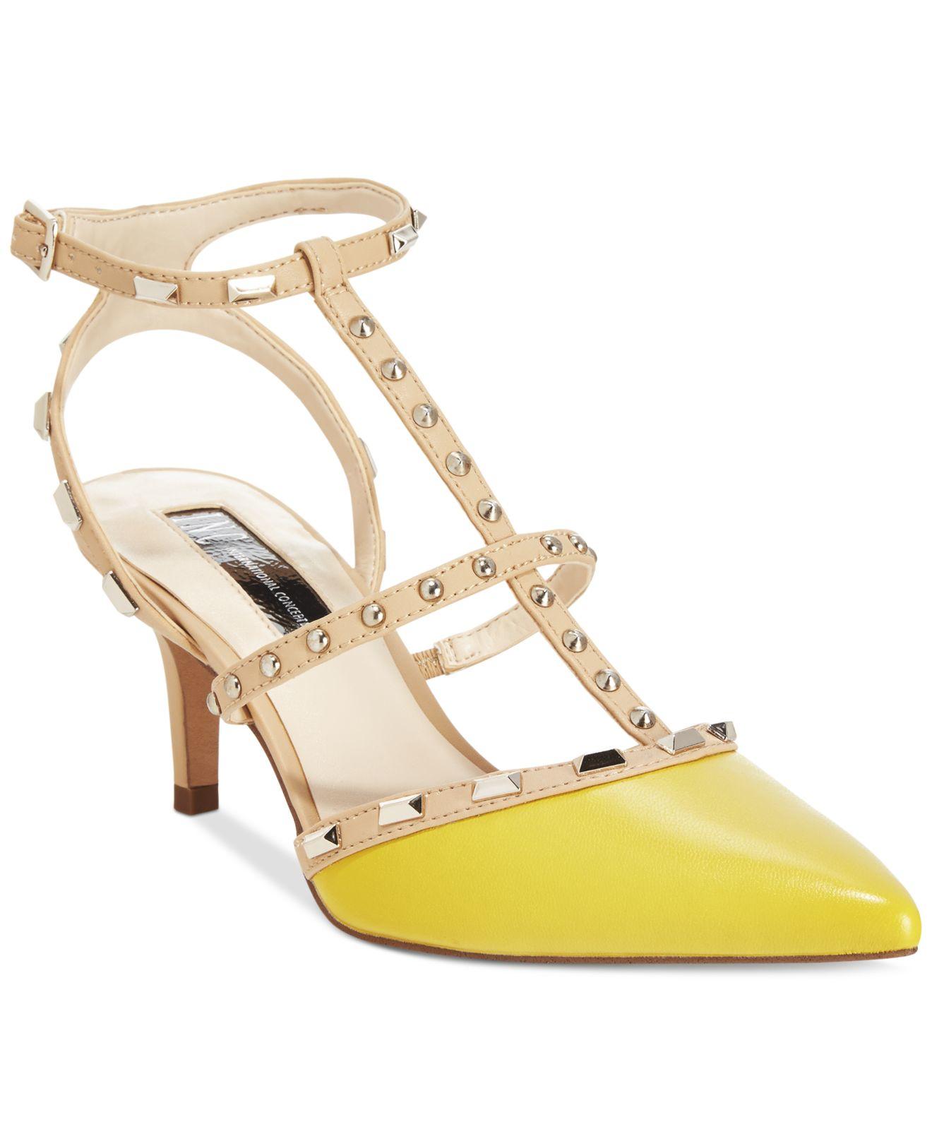 Gallery - Inc International Concepts Carma Pointed Toe Studded Kitten Heel