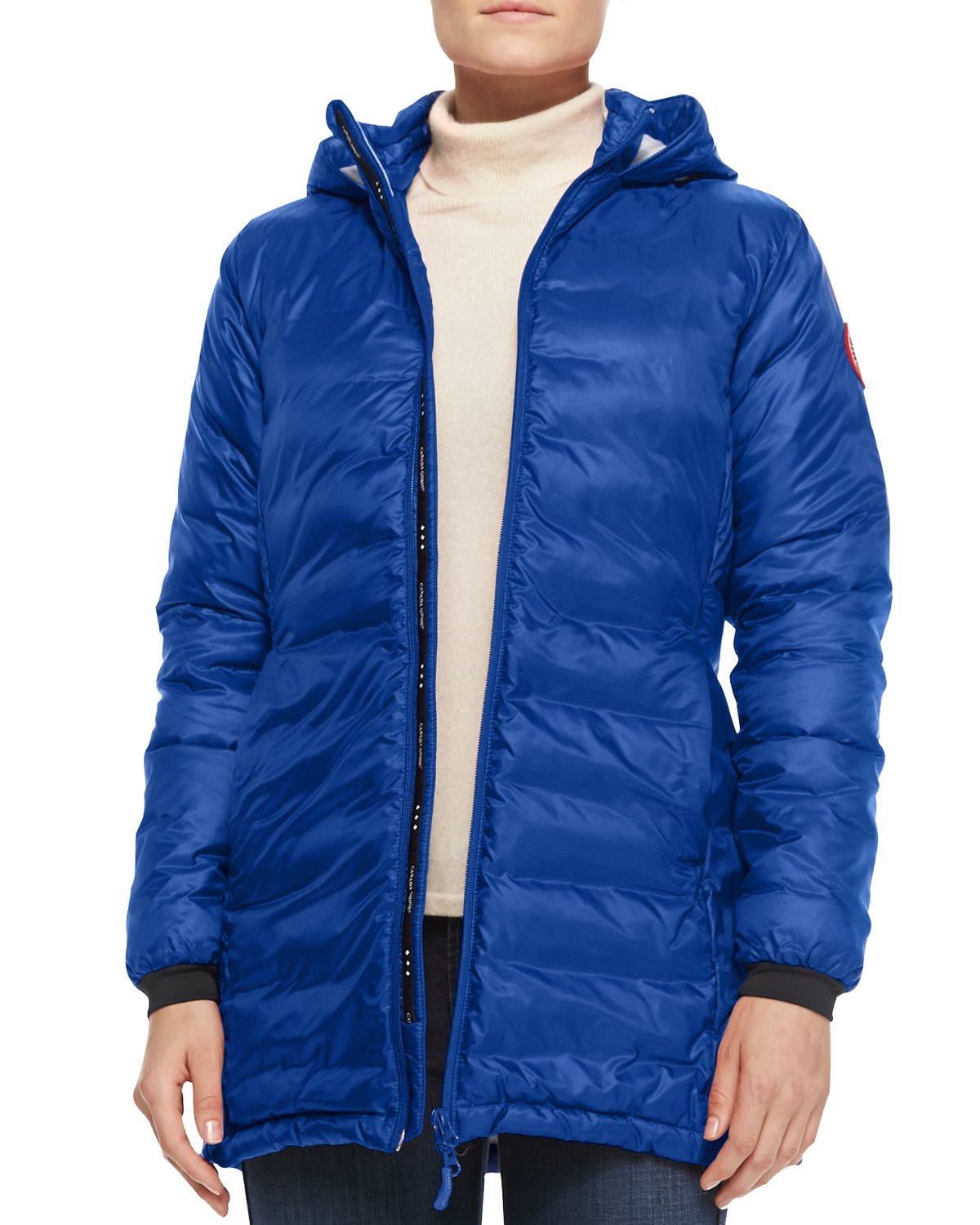 Canada Goose hats sale shop - Canada goose Camp Hooded Mid-length Puffer Coat in Blue (PACIFIC ...