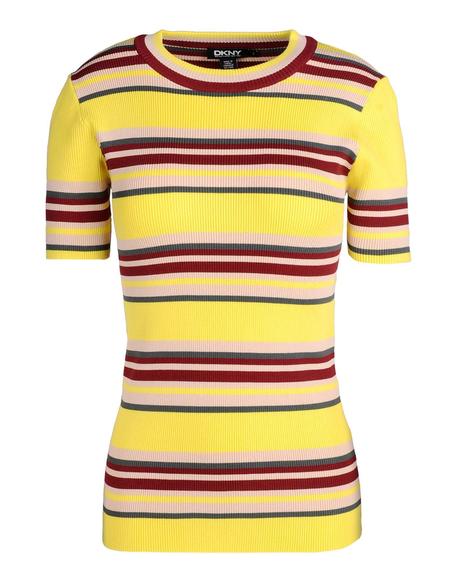 Yellow Short Sleeve Sweater - Cashmere Sweater England