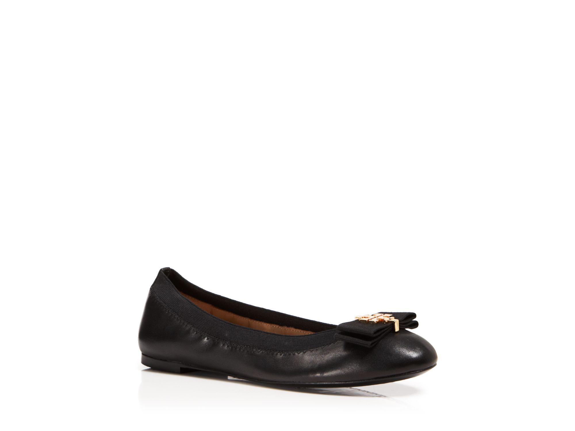 92a1430253860e Lyst - Tory Burch Ballet Flats - Sedgewick Grosgrain Bow in Black