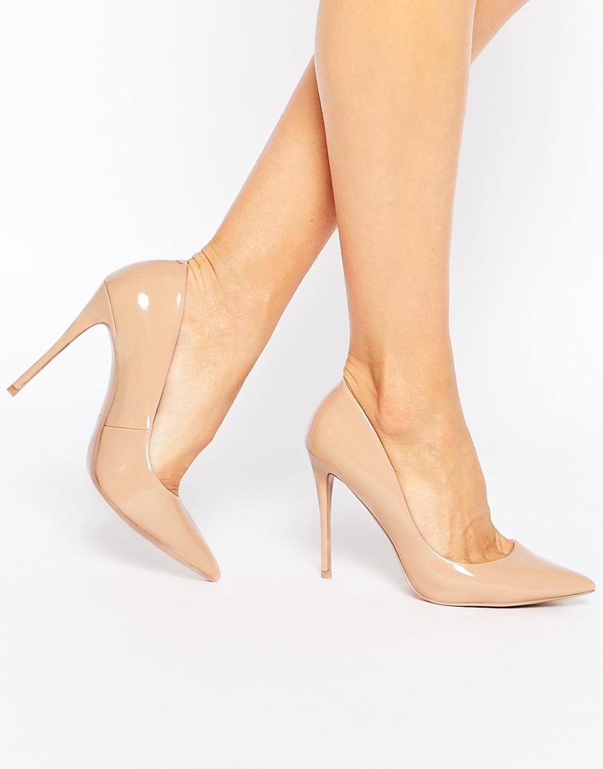 Pale Pink Peep Toe Heels