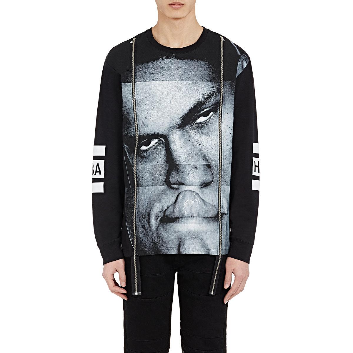 Hood by air Men's Double-zip Long-sleeve T-shirt in Black for Men ...