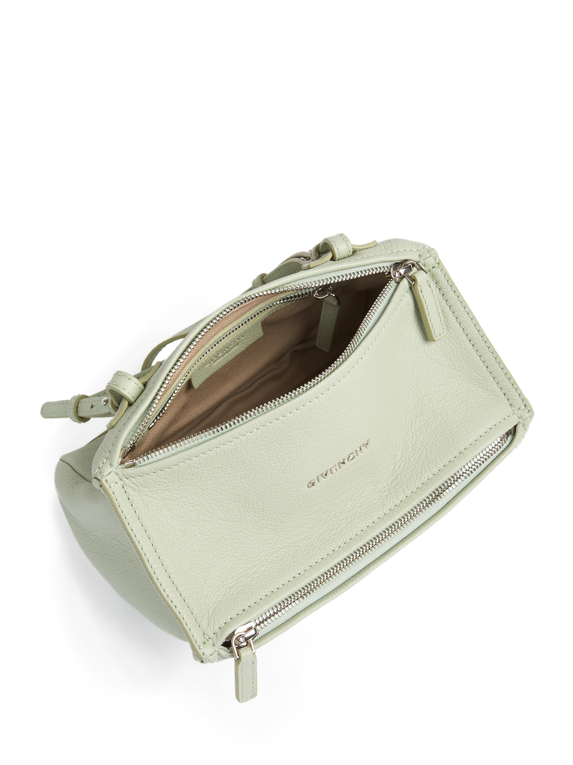 9c2b8302d86 Givenchy Pandora Mini Leather Shoulder Bag in White - Lyst