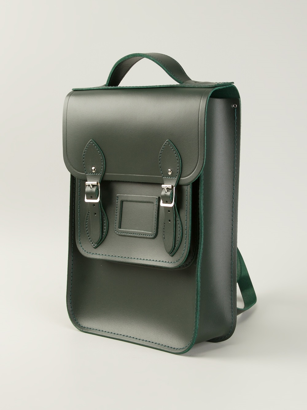 0b1dbae76830d Lyst - Cambridge Satchel Company Raw Cut Leather Backpack in Green