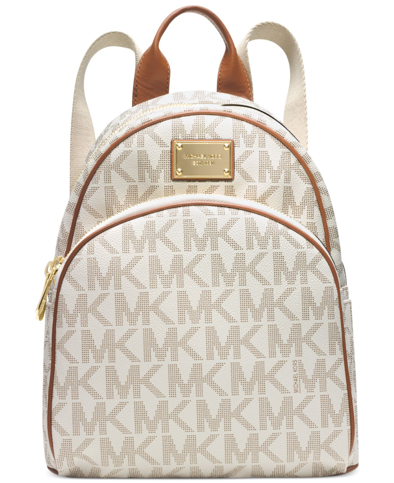 d9f5959765df ... where to buy lyst michael kors jet set travel logo backpack in natural  ac209 a8587